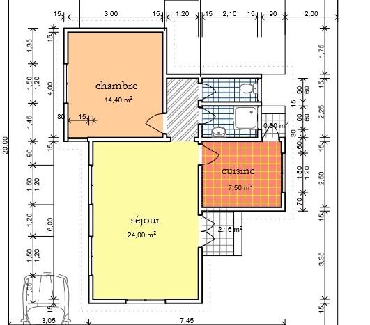 Plan Villa F2 AFH