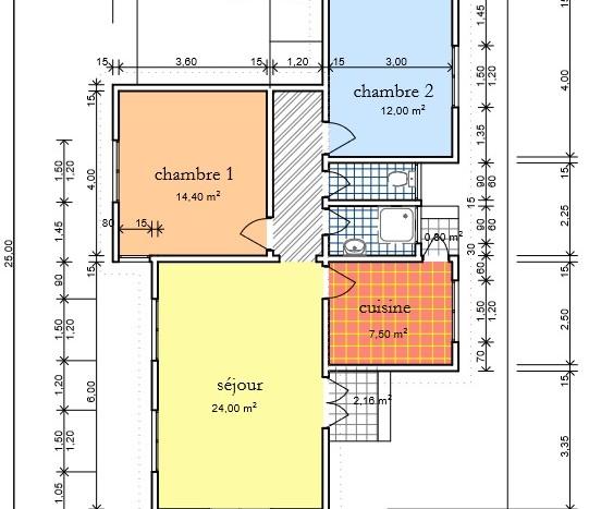 Plan Villa F3 AFH